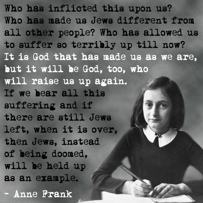 Anne Frank Quotes who has inflicted this upon us