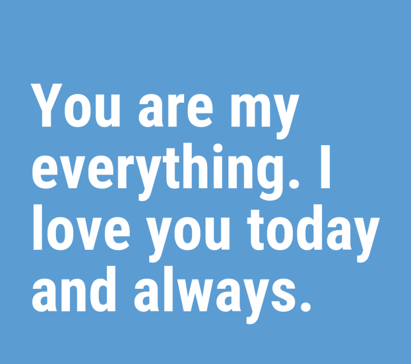 Love Quotes For Him you are my everything.