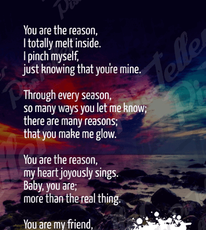 Love Quotes For Him you are the reason, i totally melt inside i pinch myself