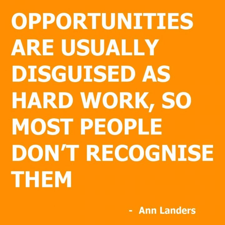 Motivational Success Quotes, Saying and Quotations images opportunities are usually