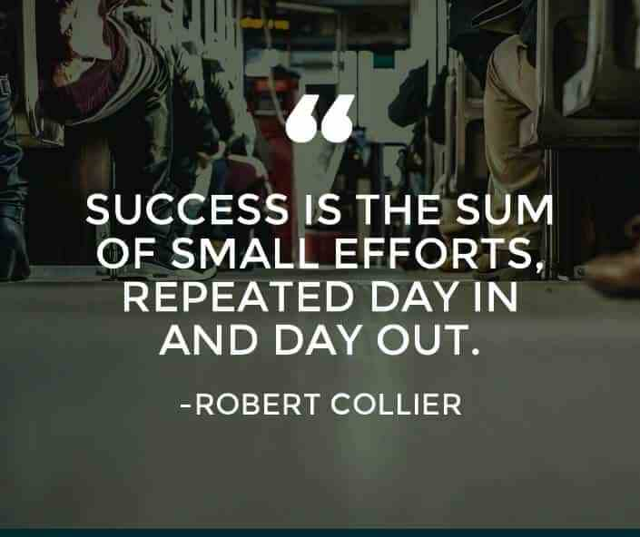 Motivational Success Quotes, Saying and Quotations images success is the sum of small efforts repeated day in and day out.