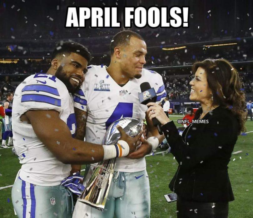 april fools NFL Meme