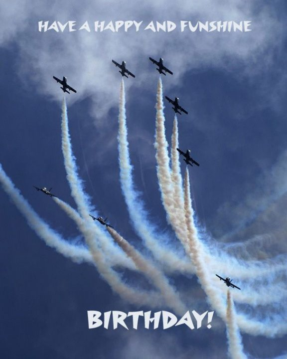 Have A Happy And Funshine Birthday With Many Plane