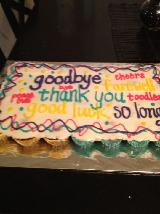 Going Away Cake Quotes 0109