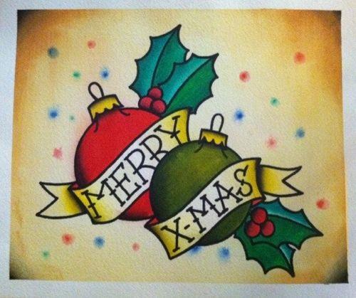 Merry Christmas Tattoos 07
