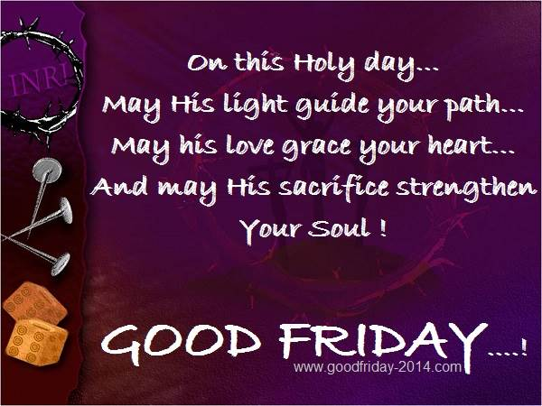 good friday wishes images on this holy day.. may his light guide your path