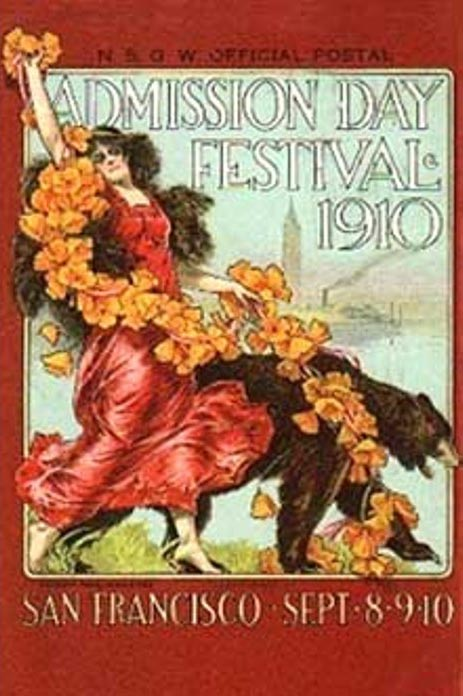 Admission DAy Festival 1910 San Francisco Sept.