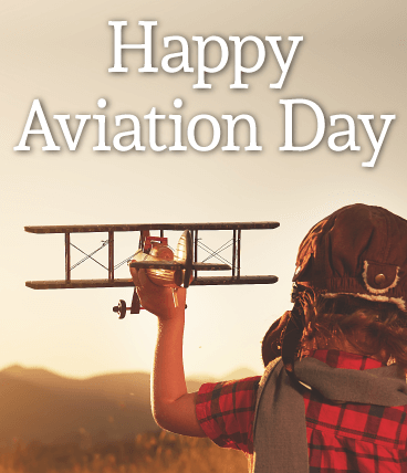 Happy Aviation Day plane With Little Kid