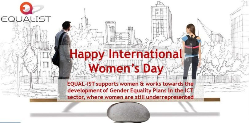 Happy International Women's Day equal Ist Supports