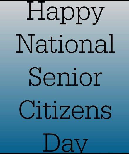 Happy National Senior Citizens Day With Black