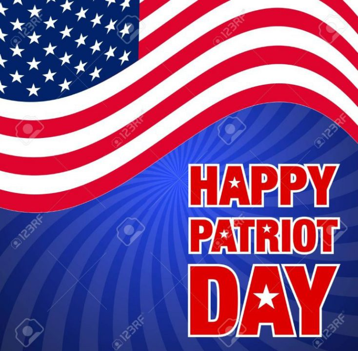 Happy Patriot Day Wishes With Flag
