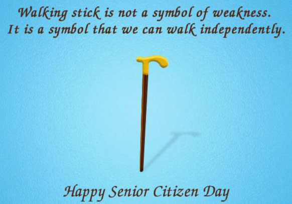 Happy Senior Citizen Day Greeting Wish