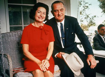 Lyndon Baines johnson day With lady