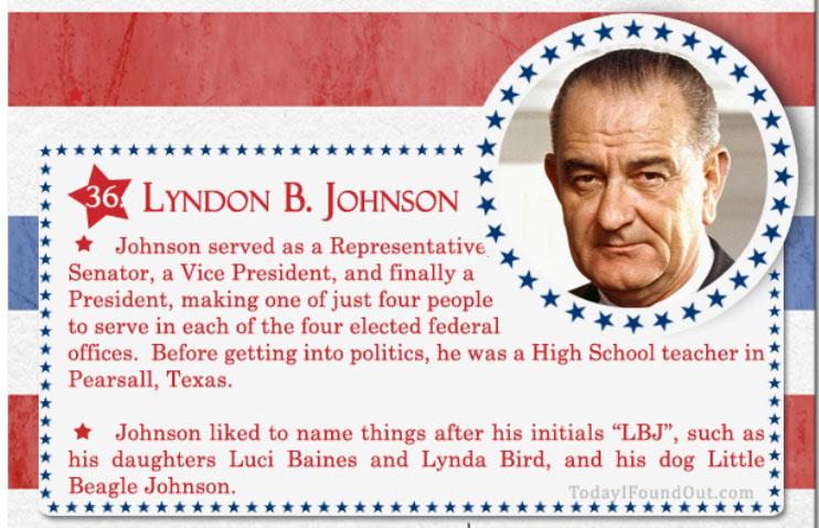 LyndonB.Johnson Johnson served