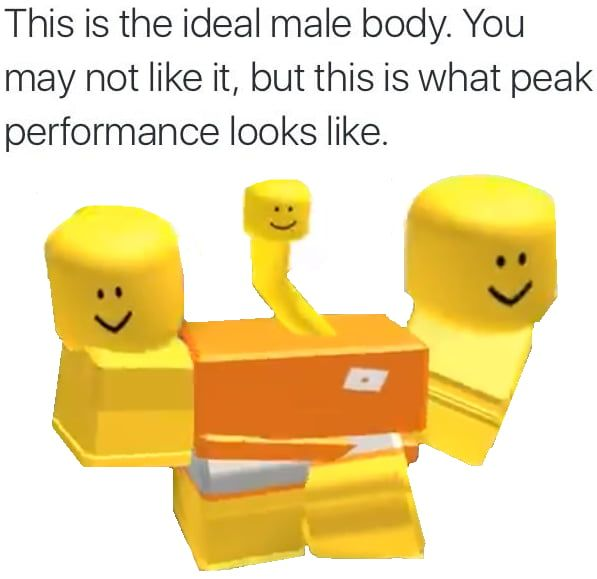 dank roblox memes this is the ideal male body. you