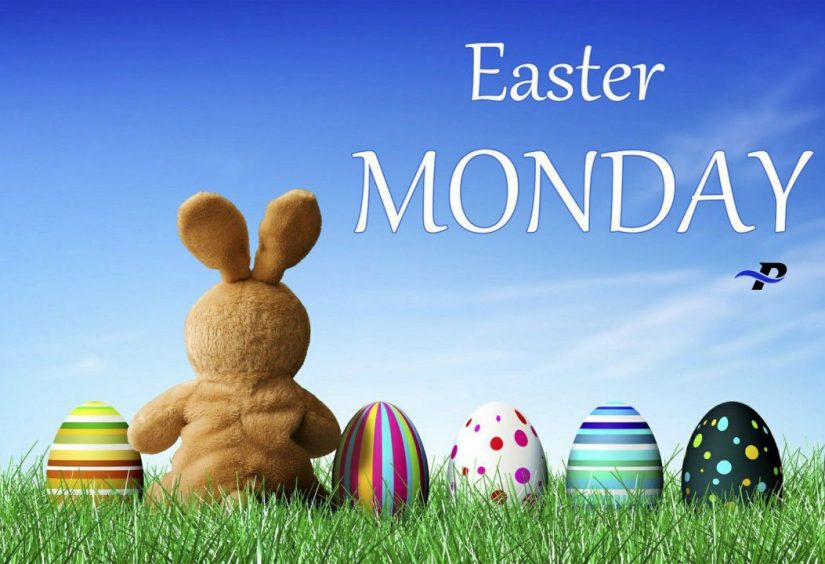 Easter Monday With Blue Nice Background