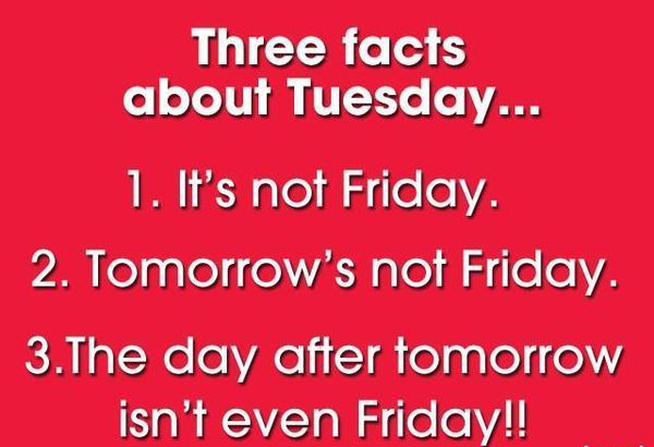 Three Facts About Tuesday Its Not