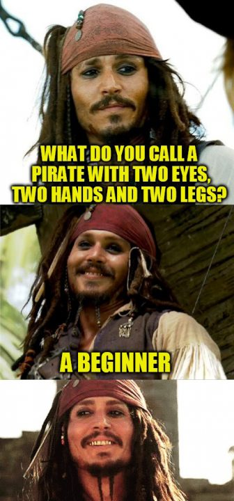 What To YOu Call A Pirate With Two Eyes