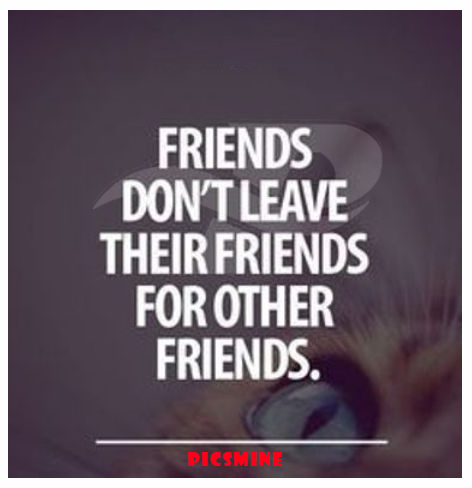 fake friend quotes friends don't leave their friends for other friends.