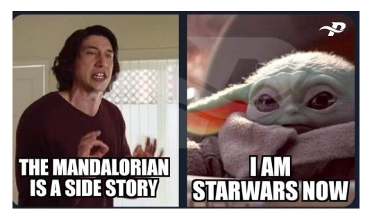 star wars memes yoda the mandalorian is a side story i am starwars now