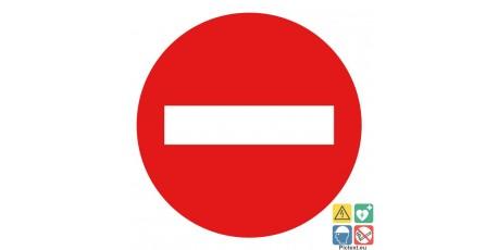 Panneau Sens Interdit Pour Les Circulations Privees
