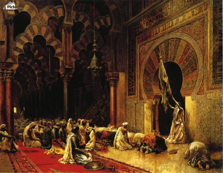 Interior of the Mosque at Cordova   Edwin Lord Weeks Canvas Canvas print