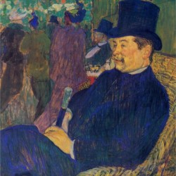 Mister Delaporte In The Garden Of Paris By Toulouse