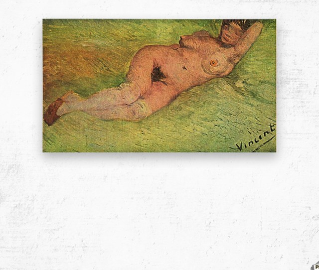 Nacked Woman By Van Gogh Wood Print