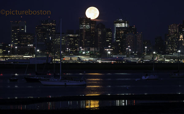 August 29, 2015. Boston's setting moon, at 5:33am.