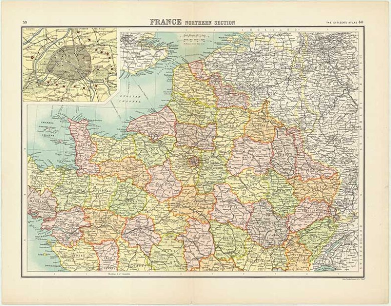 Old Map of Northern France