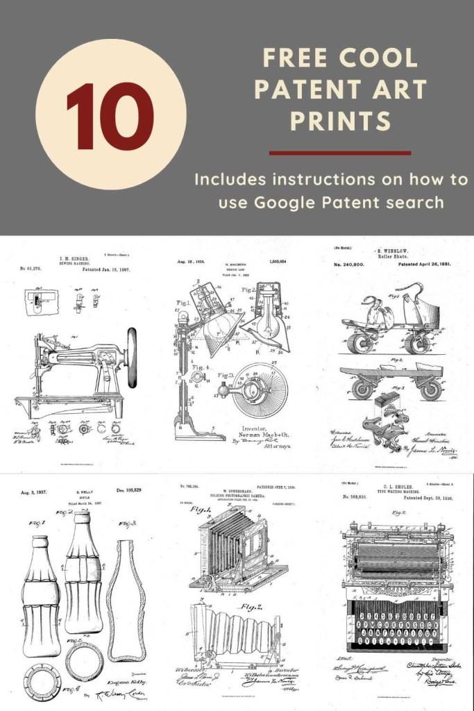 Free Google patent art