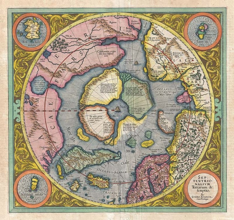1606_Mercator_Hondius_Map_of_the_Arctic_(First_Map_of_the_North_Pole)