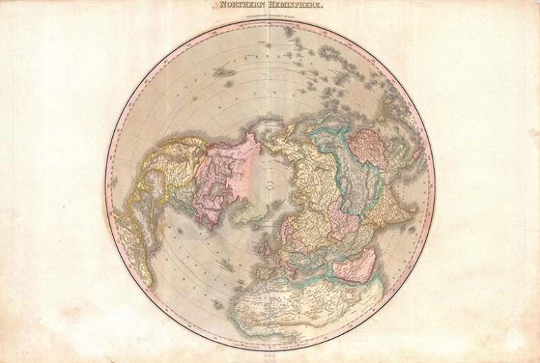 1818_Pinkerton_Map_of_the_Northern Hemispher