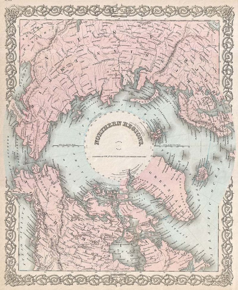 1872_Colton_Map_of_the_North_Pole_or_Arctic_