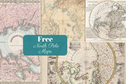 Free Vintage North Pole Maps To download ft