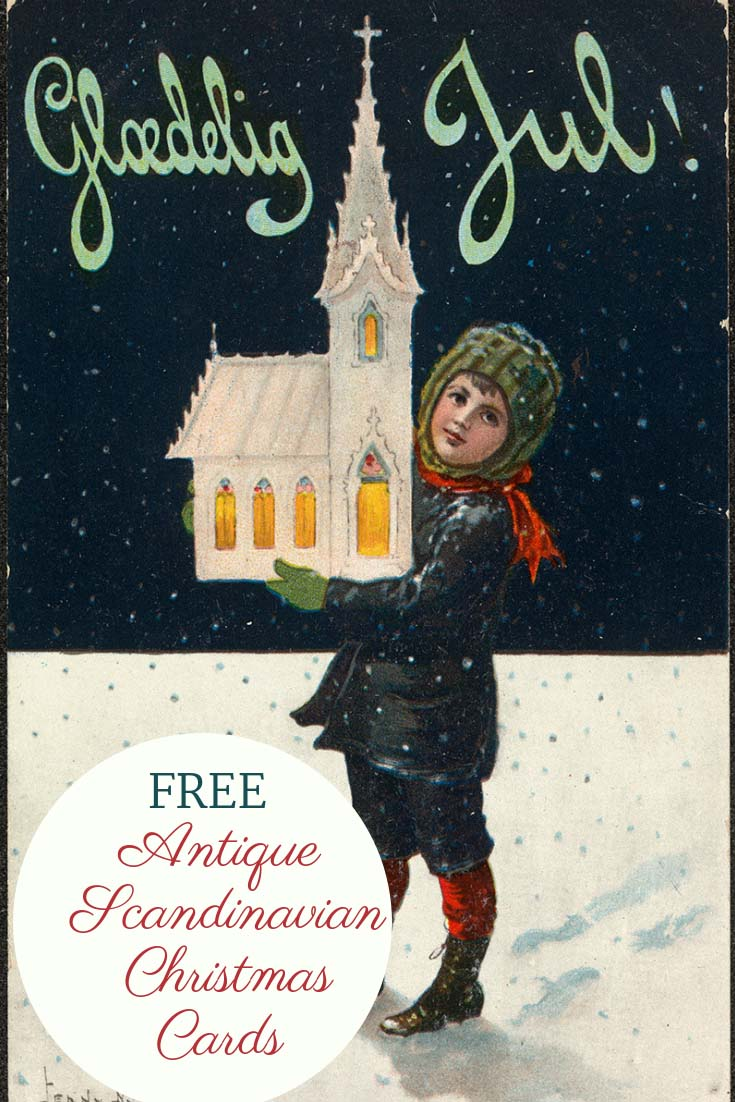 Free Printable Antique Scandinavian Christmas Cards