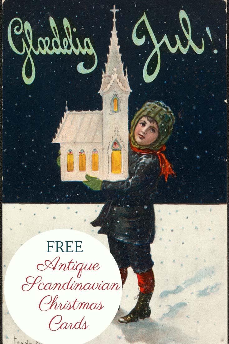 Free Printable Antique Scandinavian Christmas Cards