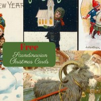 9 Free Antique Scandinavian Christmas Cards To Print