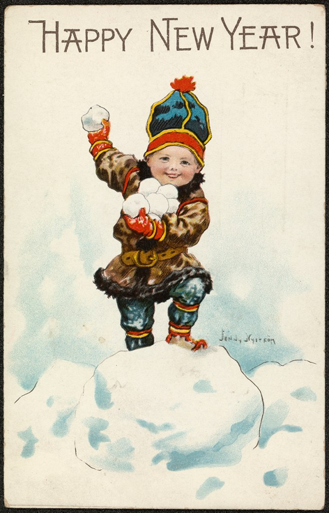 Antique Scandinavian Christmas Card