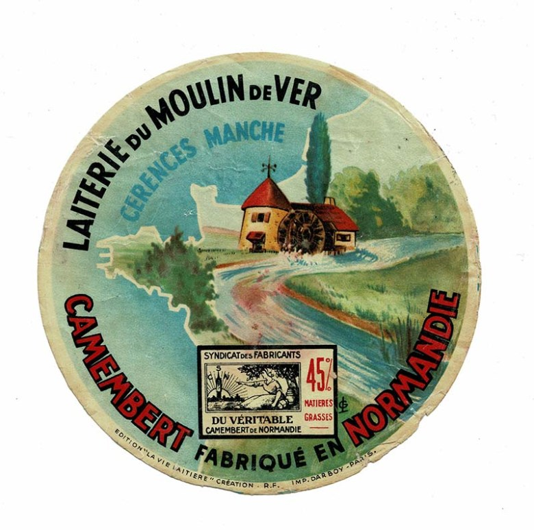 Vintage cheese label Camembert
