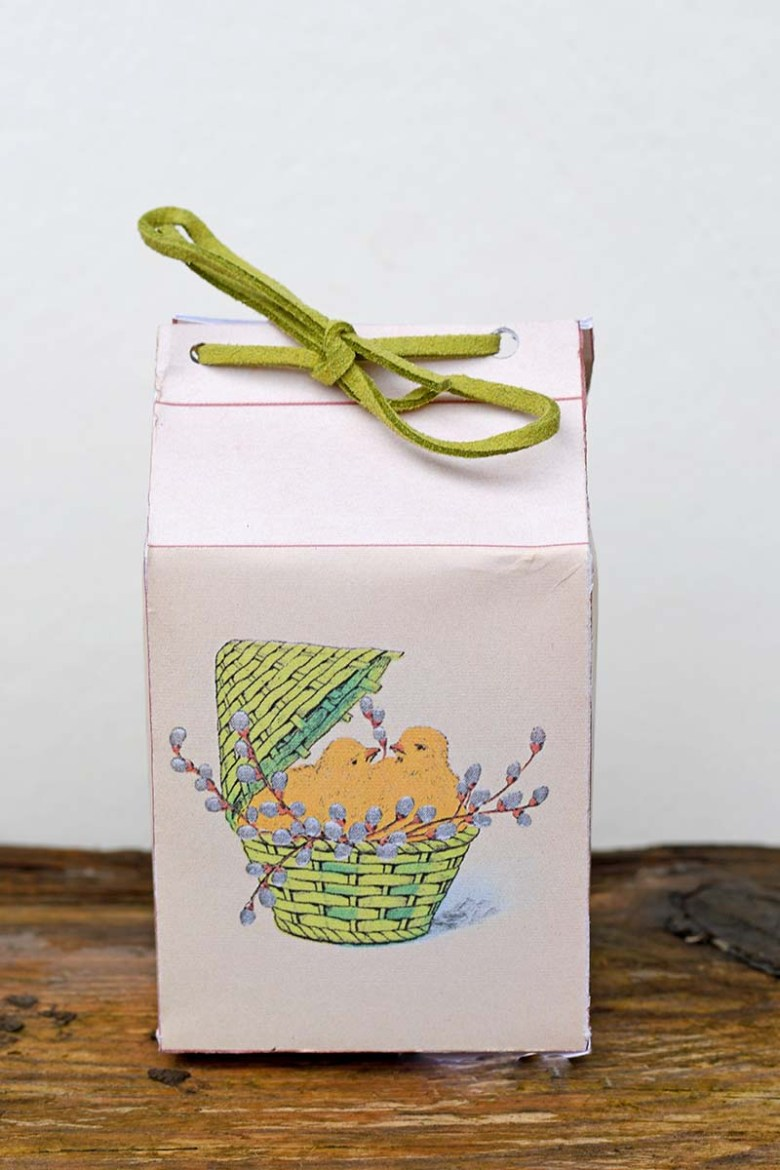 Finished vintage Easter favour box
