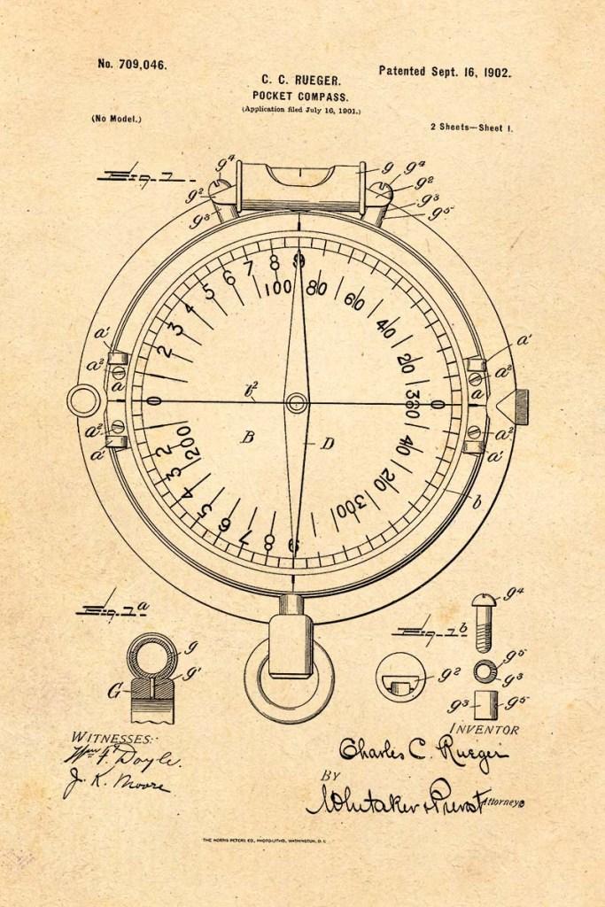 Compass Patent 1902