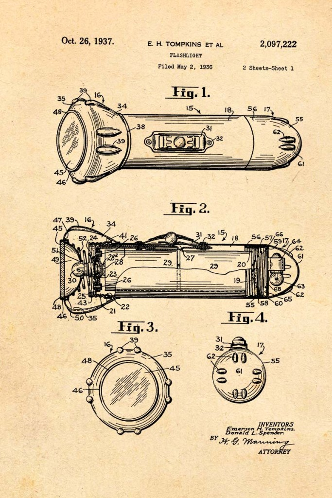 Flashlight Patent Print