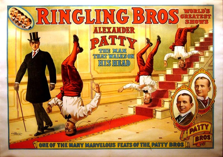 Alexander Patty Head Walker vintage circus poster