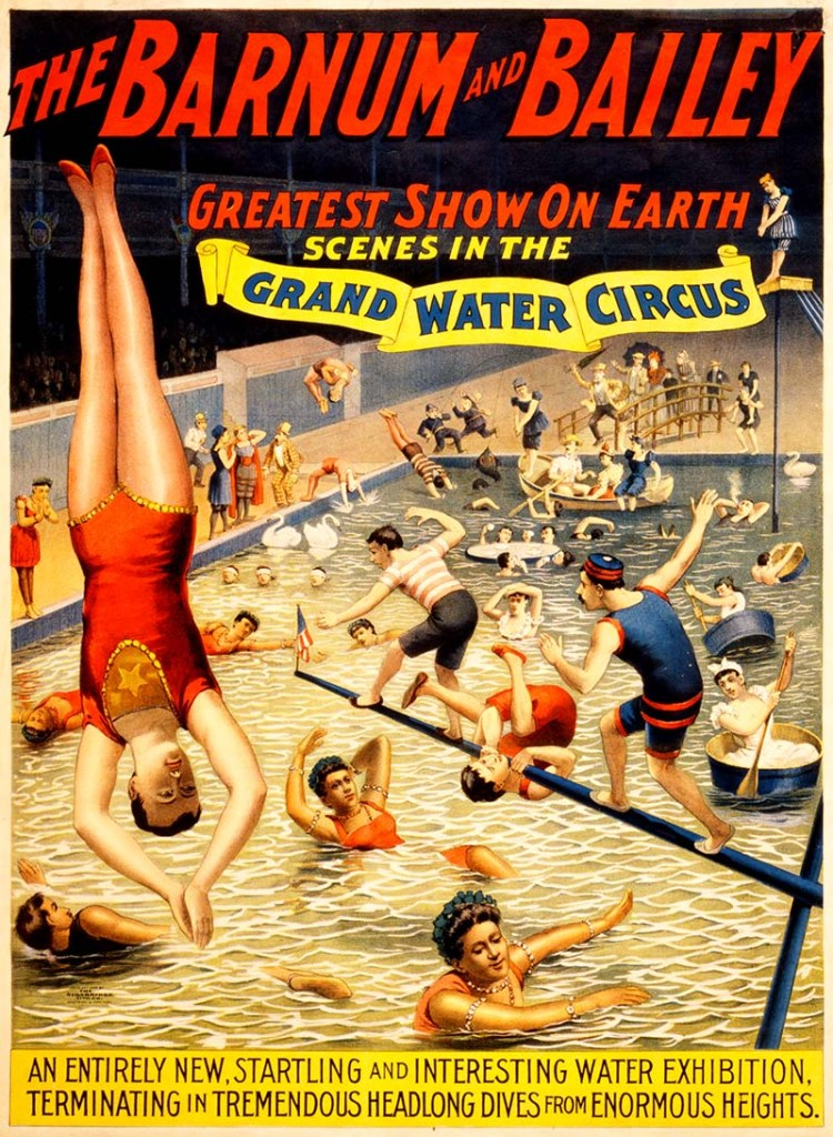Barnum & Bailey Grand Water Circus vintage circus posters