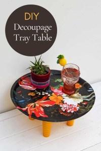 DIY decoupage flower tray