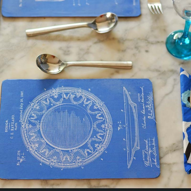 Blueprint DIY placemat