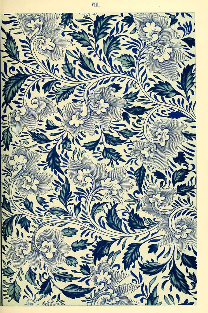 Traditional Chinese pattern in blue and white
