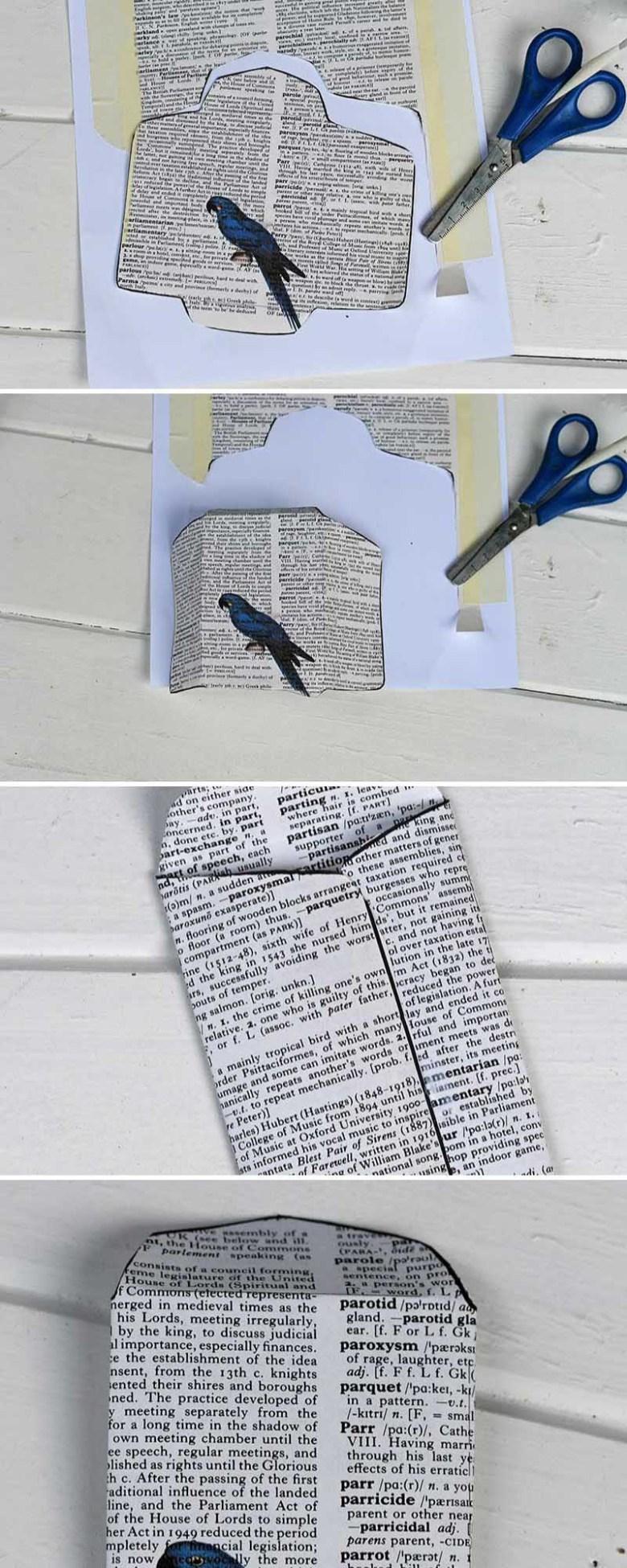 How to make an advent calendar paper envelope