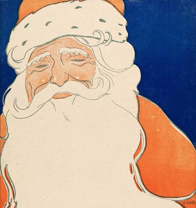 Vintage Santa Claus illustration (1901).